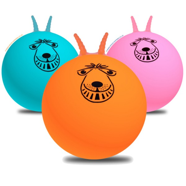 Space Hoppers 80 cm Hüpfball 3er Pack mit Pumpe