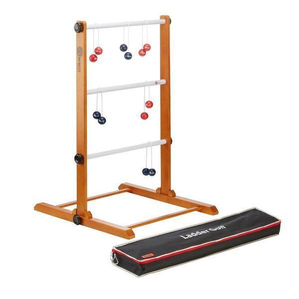 Meister Leitergolf 2018 - Laddergolf Spiel mit echten Golf-Bolas blau-rot