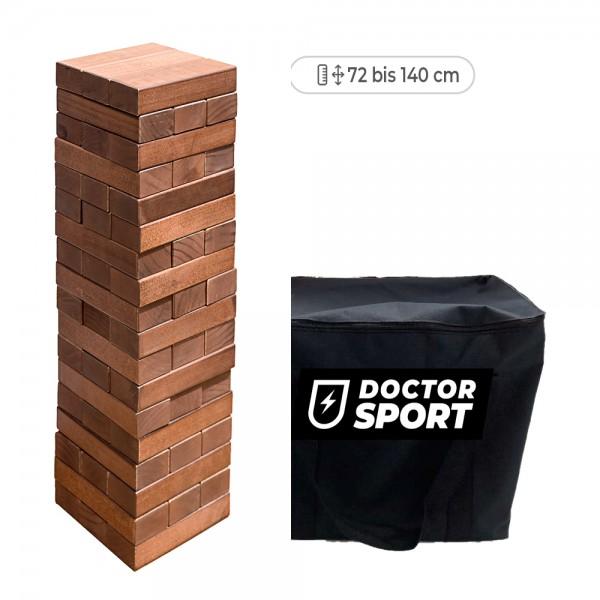 Luxuriöser Stapelturm (dunkles Holz) - bis 140 cm hoch mit Tasche