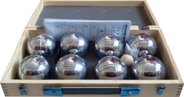 Boule Set im Holzkoffer - 8 Kugeln für bis zu 4 Spieler