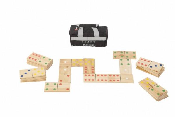 XXL Domino Spiel aus Holz mit Transporttasche
