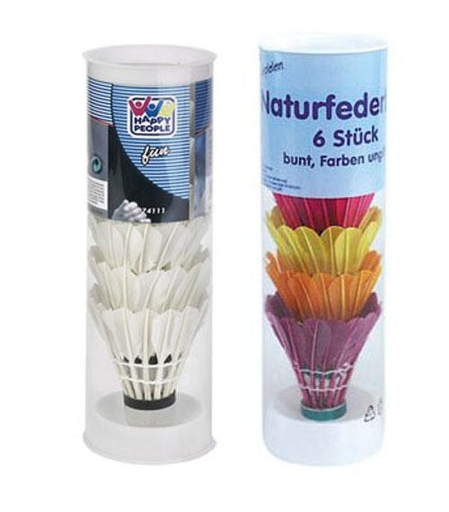 Naturfederbälle 6er Pack - preiswerte Ersatz und Zusatzbälle