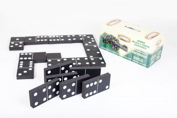 XXL Domino Spiel In- und Outdoor mit weichen Steinen