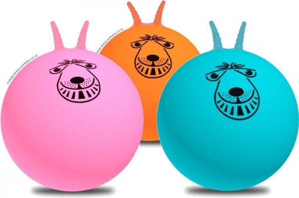 Space Hoppers 50 cm Hüpfball 3 er Pack mit Pumpe Space Hoppers