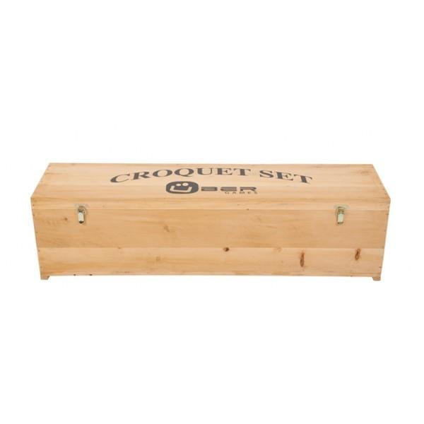 Krocket Holzkiste zur Aufbewahrung und Transport