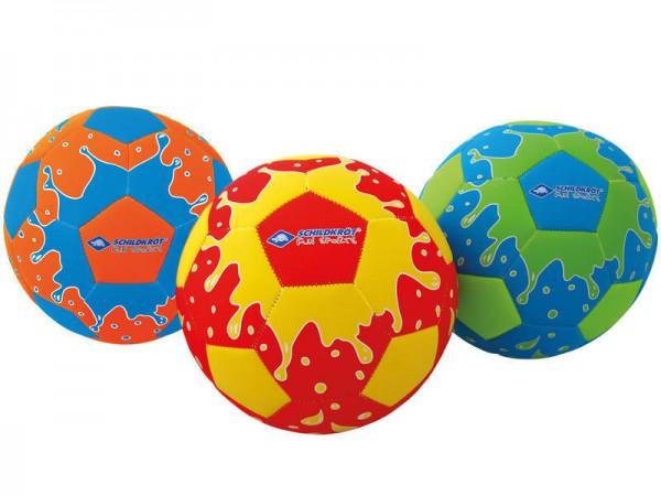 Neopren Beachsoccer - cooler Wasserball im Neon-Splashdesign