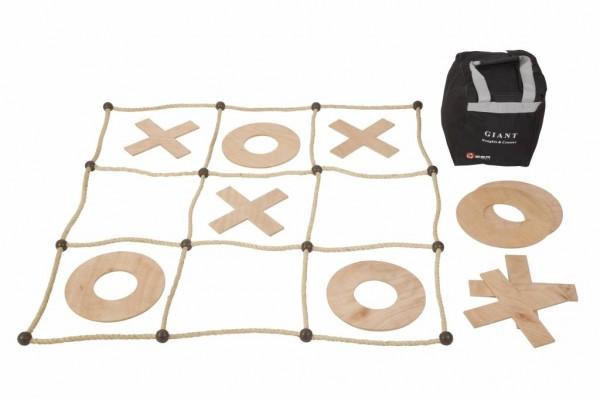 XXL Tic Tac Toe (aus Holz und Kokos-Seil)