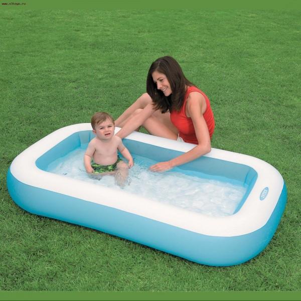 Intex Babypool - 28 cm Höhe und aufblasbarer Boden