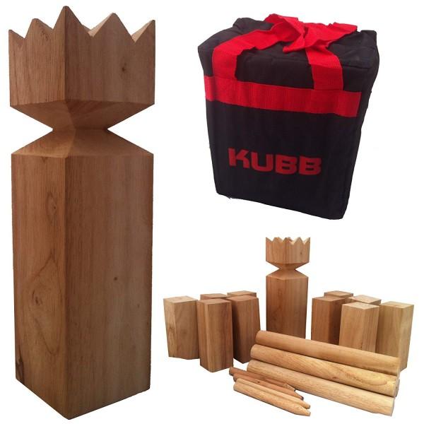 Kubb Outdoorspiel - Hartholz mit stabiler Tragetasche