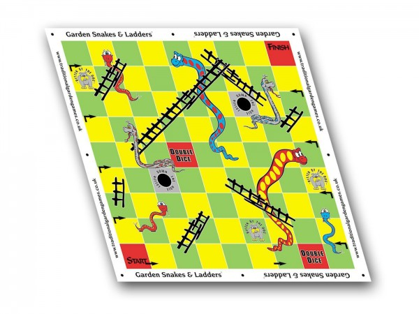 Garten Leiterspiel XXL - Garden Snakes and Ladders 3 x 3 m Outdoor