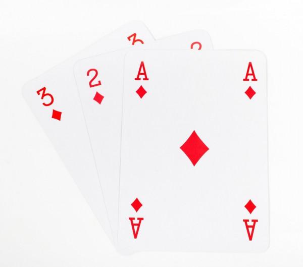 XL Kartenspiel/Spielkarten im Großformat von 20 x 28 cm A4 52er