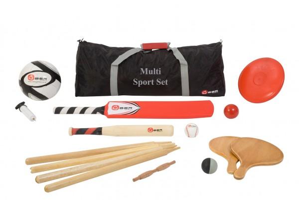 Multi Sport Freizeit Set - Baseball, Cricket, Fußball, Tennis...