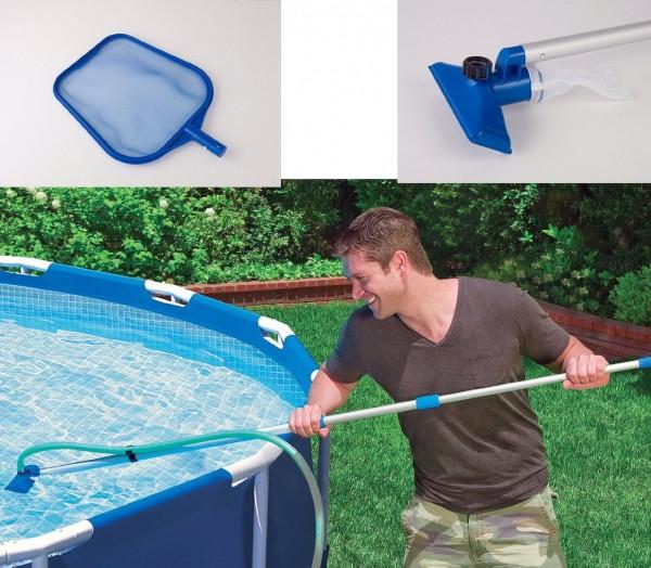 Reinigungs-Set (Kescher + Sauger) für Pools - praktisches Set