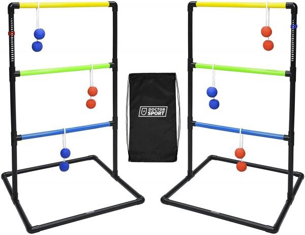 Doppel Kunststoff Leitergolf-Spiel - In Tragetasche - mit Punktetafel und Soft-Bolas