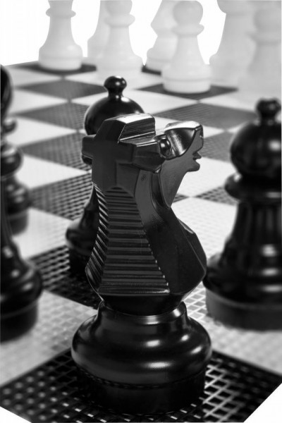 Garten-Schachfiguren aus langlebigem PVC