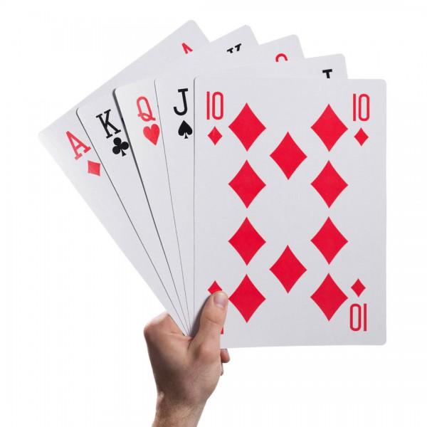 Mega XXL Kartenspiel / Spielkarten im Überformat 52er Blatt A3