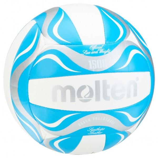 Molten Volleyball/Beachvolleyball im Top Design blau-weiß-silber