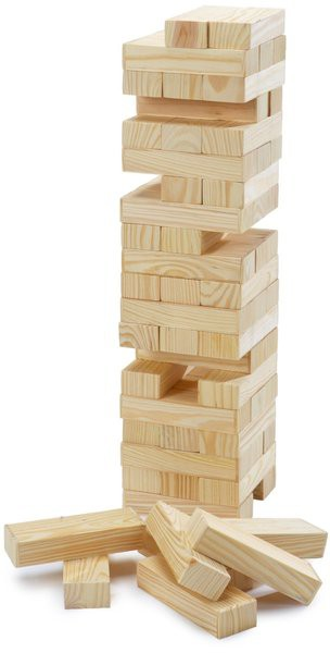 Wackelturm / Holzturmspiel von Simba - der Klassiker im Turmbau